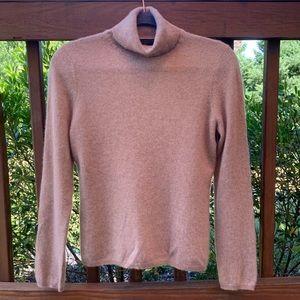 100% Cashmere Camel Color Turtleneck Sweater